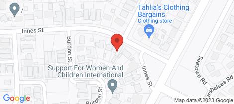 Location map for 38B Innes Street Elizabeth Park