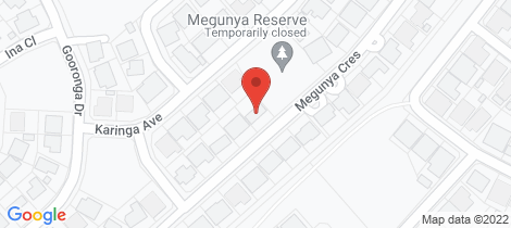 Location map for 20 Megunya Crescent Craigmore