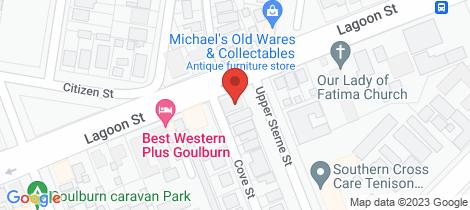 Location map for 87 Lagoon Street Goulburn