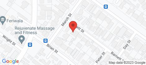Location map for 3A Barnett Street Salisbury