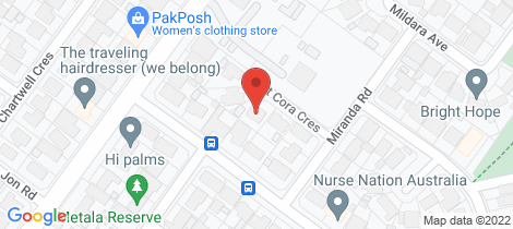 Location map for 6 St cora Crescent Paralowie