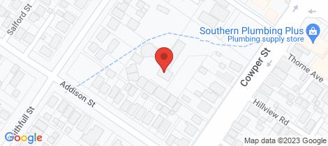 Location map for 74 Cowper Street Goulburn