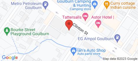 Location map for 42-44 Clinton Street Goulburn