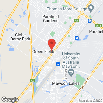 Map of O'Brien® Glass Adelaide at 2 Nucera Court, Green Fields, SA 5107
