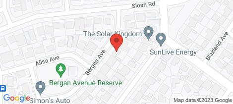 Location map for 10 Bergan Avenue Ingle Farm