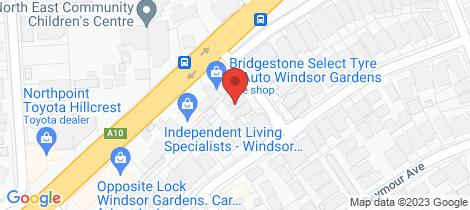 Location map for 1B Kambula Street Windsor Gardens