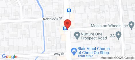 Location map for 1/448 Propect Road Kilburn