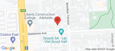 Location map for 10 Gladstone Avenue Kilburn