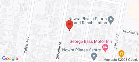 Location map for 10 Osborne Street Nowra