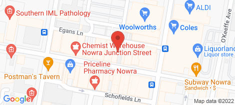 Location map for 7/111 Junction Street Nowra