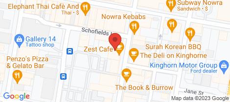 Location map for 4/29 Kinghorne Street Nowra