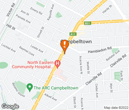Map of Health at Brooker in Campbelltown