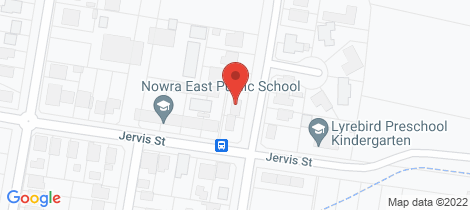 Location map for 61 Wallace Street Nowra
