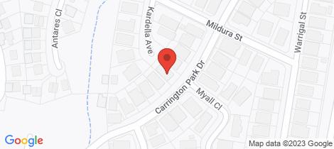 Location map for 30 Carrington Park Drive Nowra
