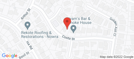Location map for 9 Costa Street Worrigee