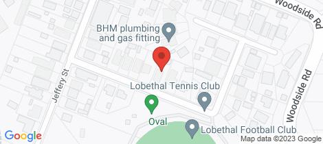 Location map for 9 Onkaparinga Street Lobethal