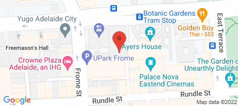 Location map for 424/9 Paxtons Walk Adelaide