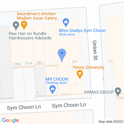 Miss Gladys Sym Choon 235A Rundle St , ADELAIDE, SA 5000, AU