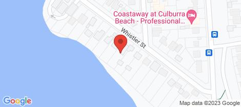 Location map for 20 Whistler Street Culburra Beach
