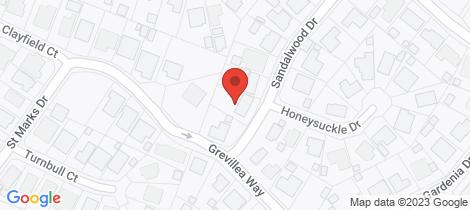 Location map for 16 Sandalwood Drive Woodside