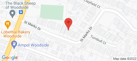 Location map for 15 St Marks Drive Woodside