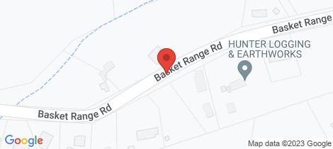 Location map for 50 Basket Range Road Uraidla