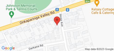 Location map for 4 Ilinga Avenue Balhannah