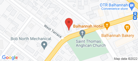 Location map for 2 West Terrace Balhannah