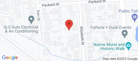 Location map for 7 Elizabeth Street Nairne