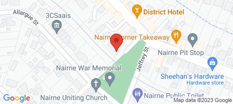 Location map for 1/2 Cockburn Street Nairne