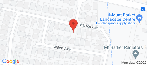 Location map for 76 Barton Circuit Mount Barker