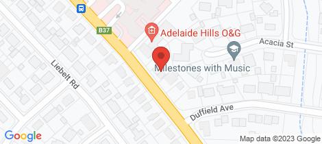 Location map for 91B Wellington Road Mount Barker
