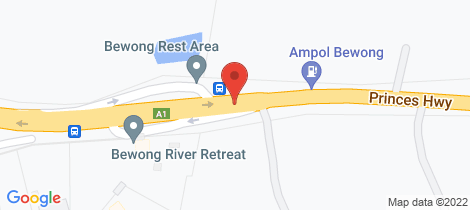 Location map for D2395 Princes Highway Bewong