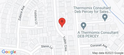 Location map for 27 Tobin Crescent Woodcroft