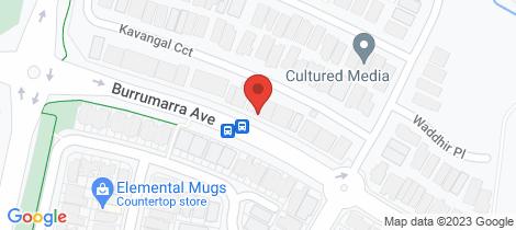 Location map for 92 Burrumarra Avenue Ngunnawal
