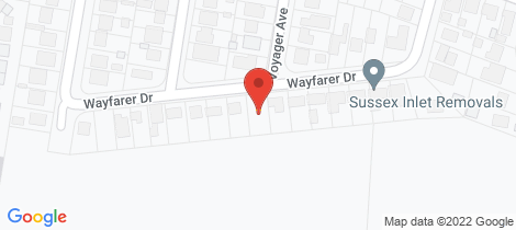 Location map for 24 Wayfarer Drive Sussex Inlet