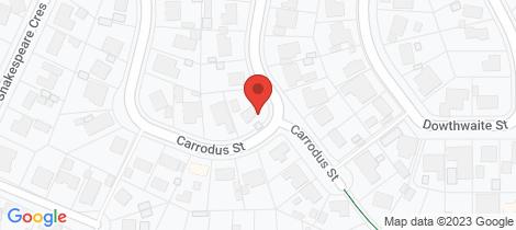 Location map for 17B Carrodus Street Fraser
