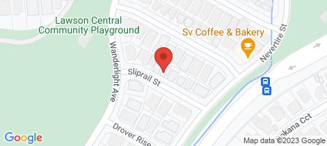Location map for 9 Sliprail Street Lawson