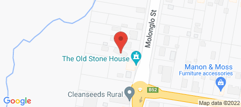 Location map for 39 Molonglo Street Bungendore