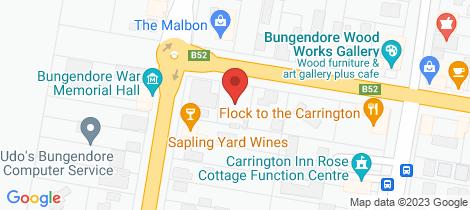 Location map for 3 Malbon Street Bungendore