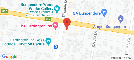 Location map for RnR's Diner Bungendore
