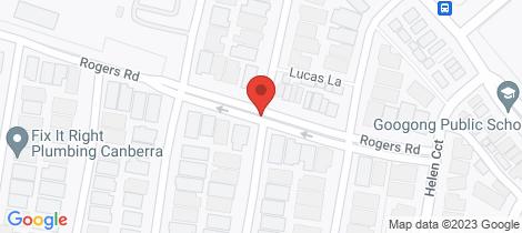 Location map for 36 Underhill Street Googong