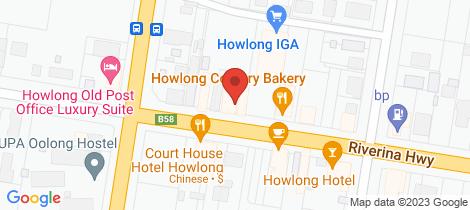 Location map for 3/47 Hawkins Street Howlong