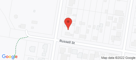 Location map for 1 Russell Street Howlong