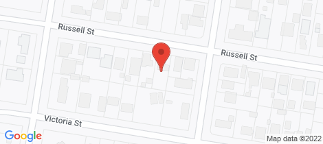 Location map for 16 Russell Street Howlong