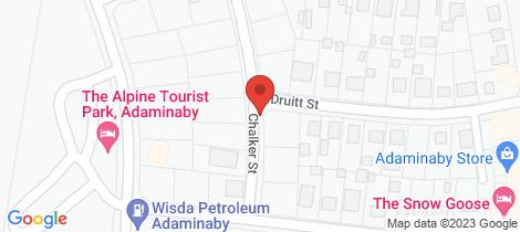 Location map for 2 Druitt Street Adaminaby