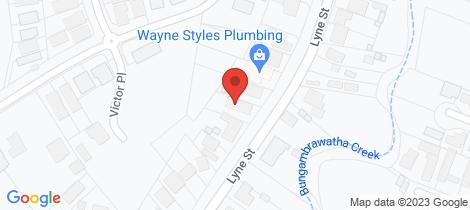 Location map for 2/551 Lyne Street Lavington