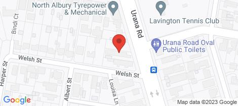 Location map for 3/431 Urana Road Lavington