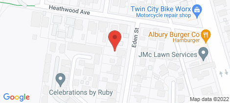 Location map for 401 Eden Street Lavington