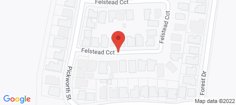 Location map for 17 Felstead Circuit Thurgoona